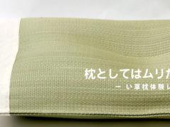 枕としてはムリだけど。ーい草枕体験レポ(4)ー
